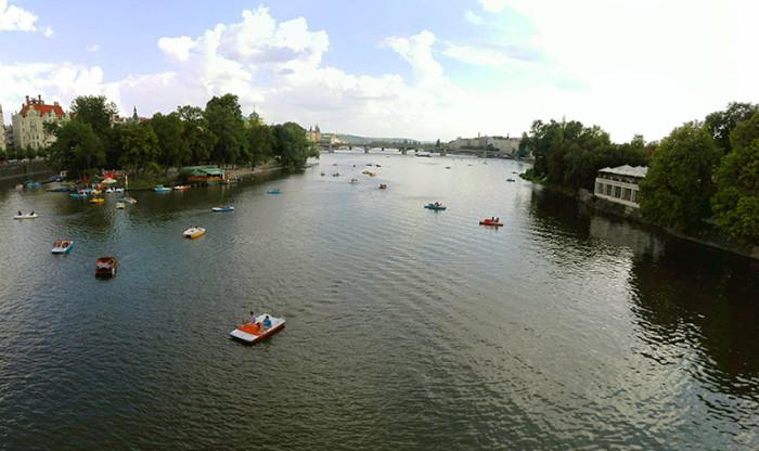 Wełtawa rowerki wodne - Praga 1