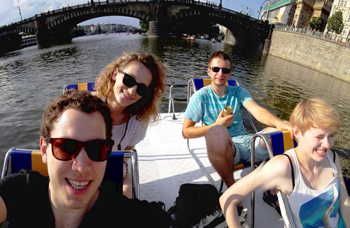 Wełtawa rowerki wodne - Praga 3