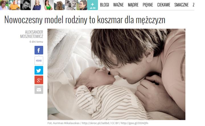Nowoczesny model rodziny to koszmar dla mężczyzn