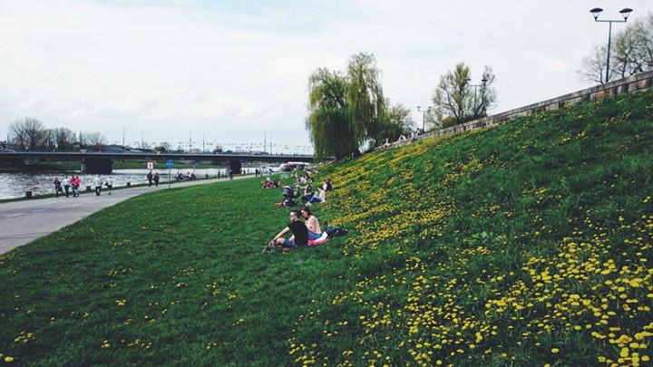 Bulwary Wiślane - zielone miejsca w Krakowie (1)