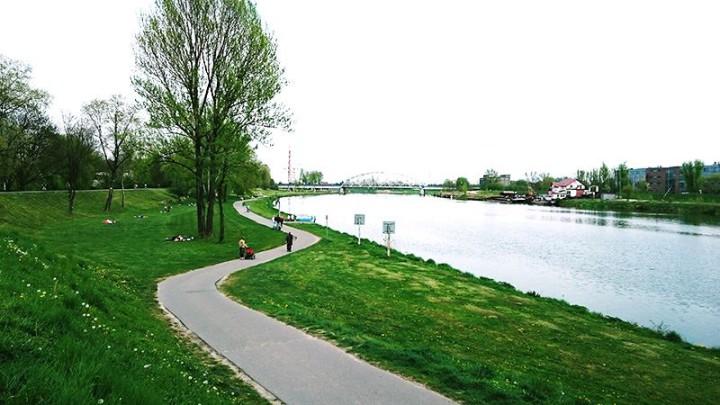 Bulwary Wiślane - zielone miejsca w Krakowie (3)