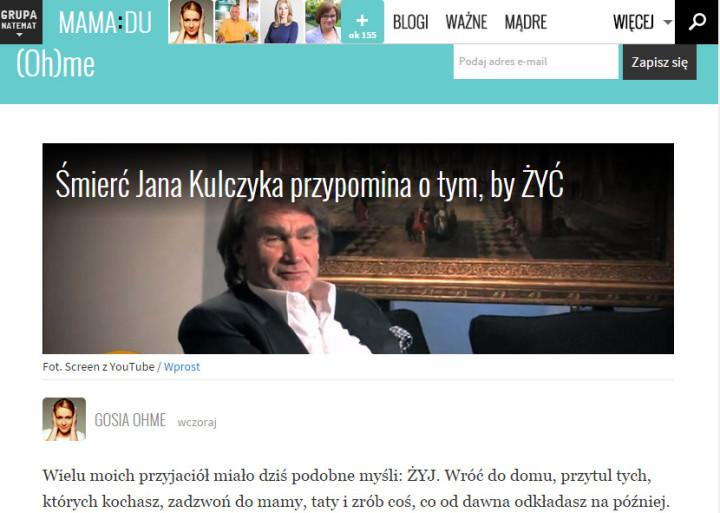 śmierć Jana Kulczyka w natemat