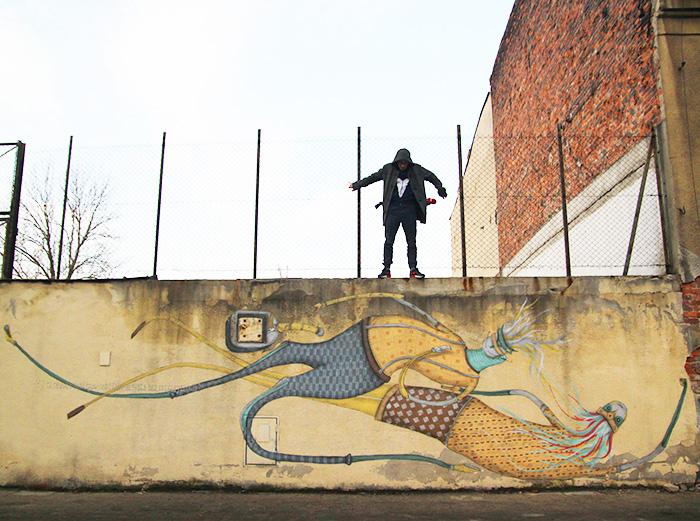 Krakowskie murale - Kraków ulica Kącik (1)
