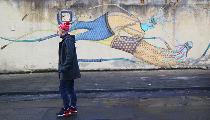 Krakowskie murale - Kraków ulica Kącik (2)