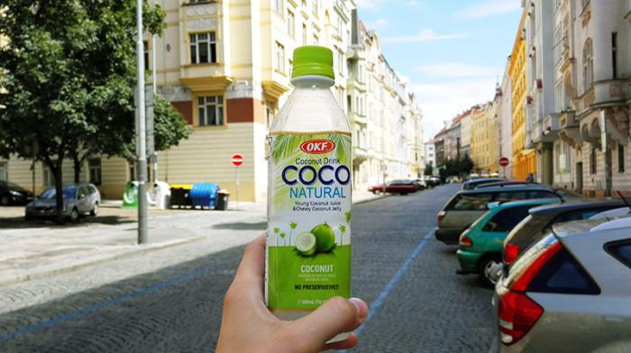 Fastfood - Praga - sok kokosowy