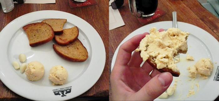 Restauracja U Medvidku - Praga - topinky z piwnym serem