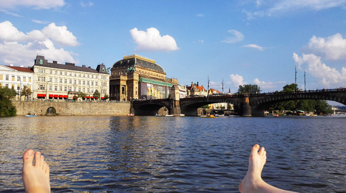 Wełtawa rowerki wodne - Praga 8