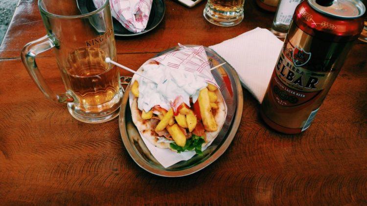 kebab z frytkami